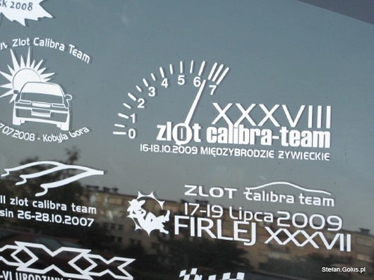XXXVIII ZLOT Calibra-team - naklejka